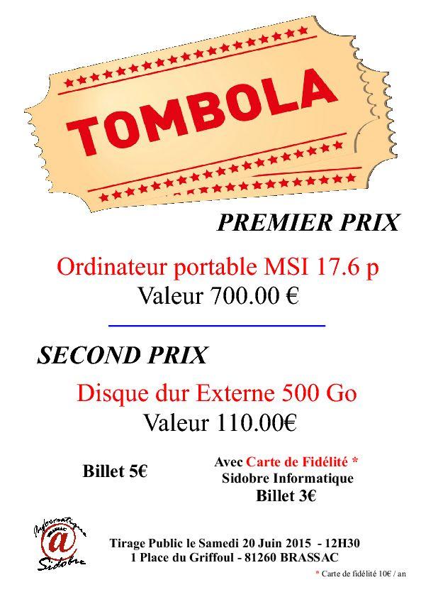 Tombola Sidobre Informatique brassac 05/2015